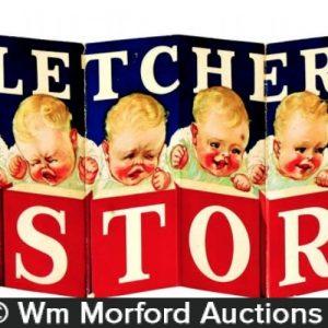 Fletcher's Castoria Folding Sign