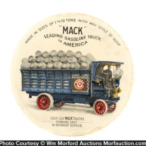 Mack Trucks Paperweight Mirror