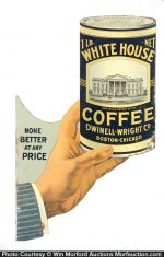 White House Coffee Sign