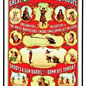 Victorina Troupe Circus Poster