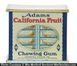 Adams California Fruit Gum Tin