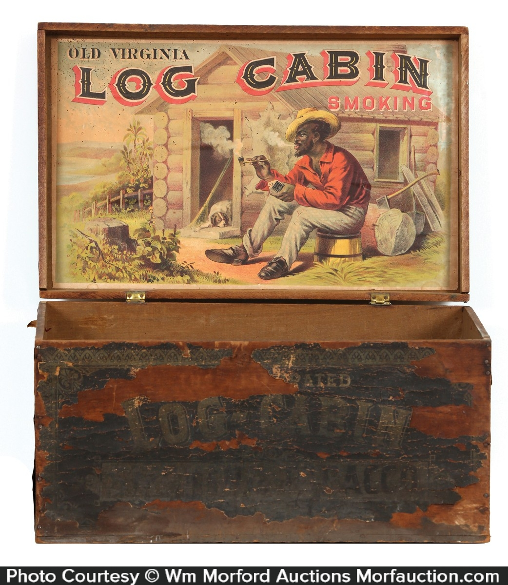 Log Cabin Tobacco Box