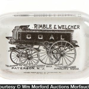 Rimble & Welcher Coal Wagon Paperweight