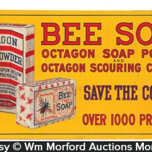Bee Octagon Soap Sign