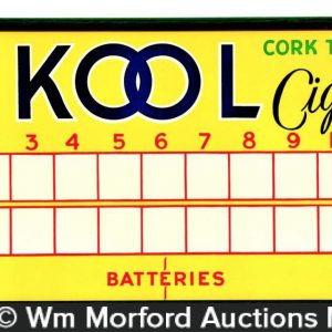 Kool Cigarettes Scoreboard Sign