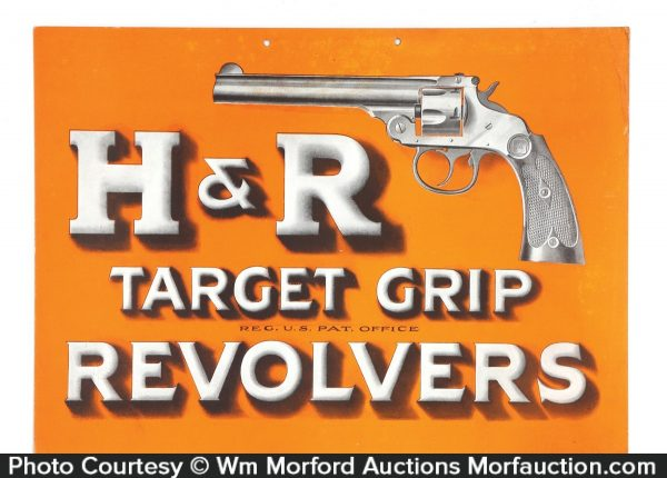 H & R Revolvers Sign