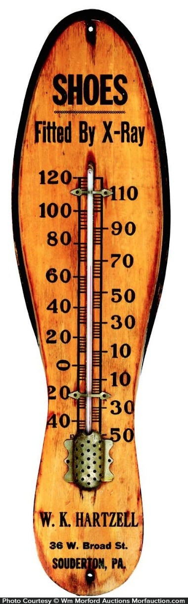 Wooden Shoes Thermometer