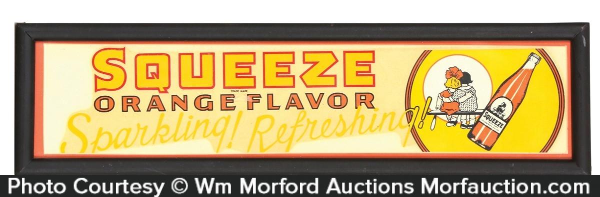 Squeeze Orange Flavor Soda Ad