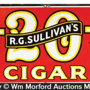 Sullivan's 7-20-4 Cigars Sign
