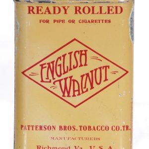English Walnut Tobacco Tin