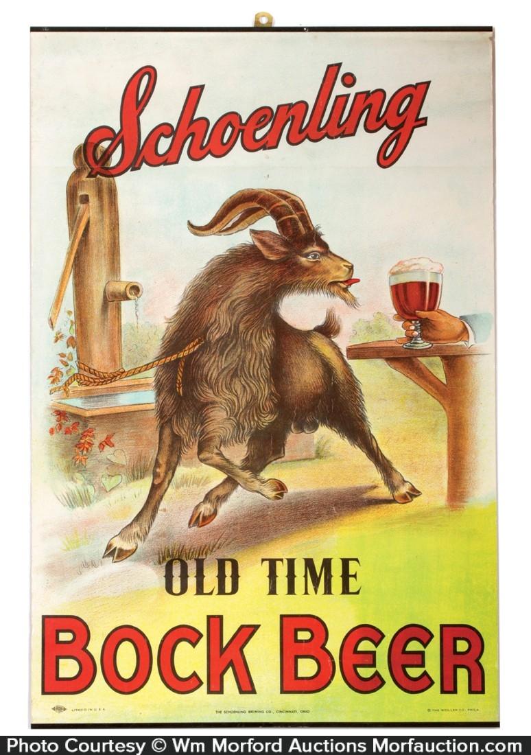 Schoenling Bock Beer Sign