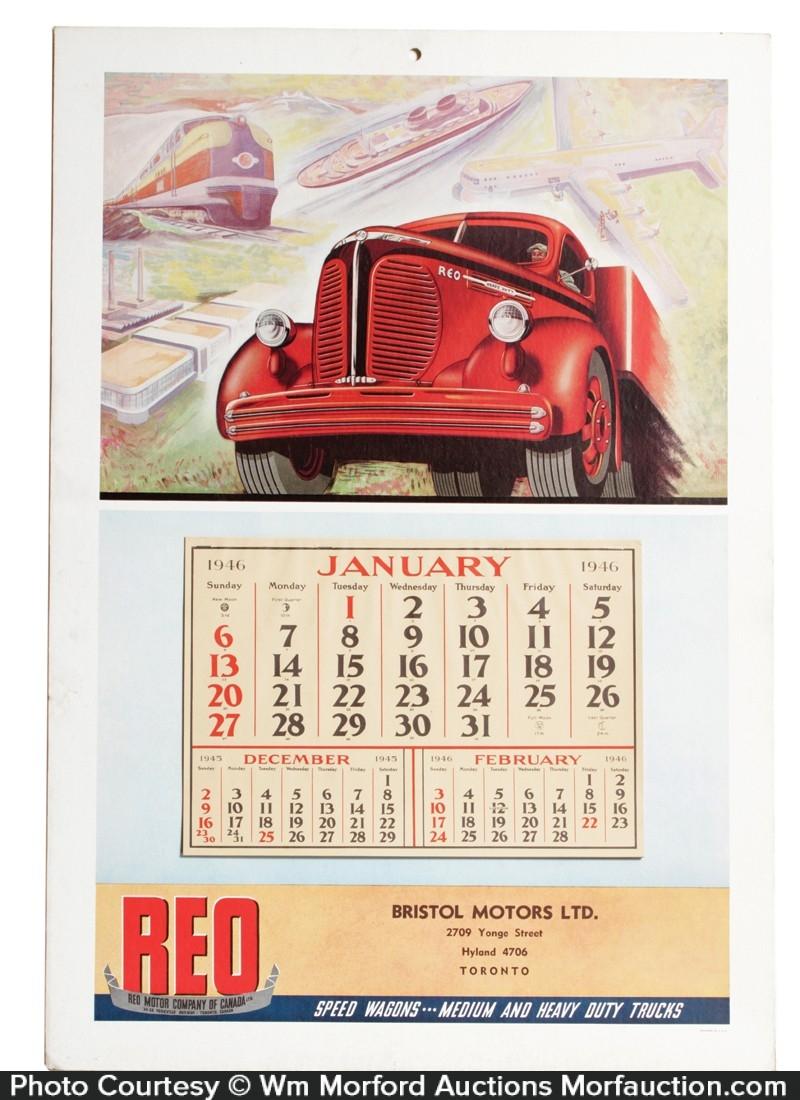 Reo Trucks Calendar