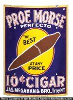 Professor Morse Perfecto Cigar Sign
