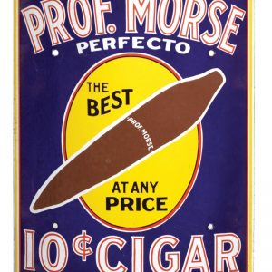 Professor Morse Perfecto Cigar Sign