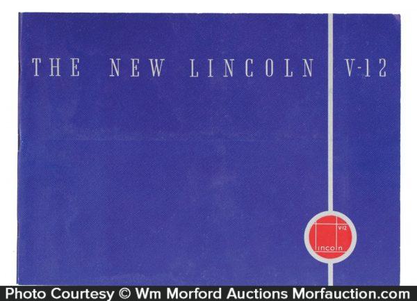 1935 Lincoln V-12 Catalog