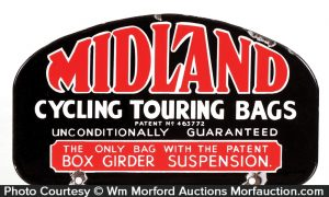 Midland Cycle Bags Porcelain Sign