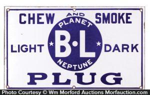 Planet Neptune Tobacco Porcelain Sign