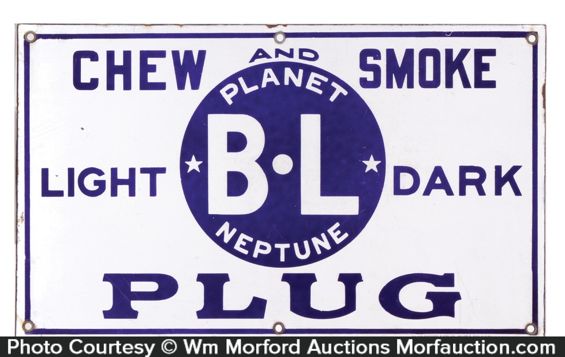 Planet Neptune Tobacco Porcelain Sign