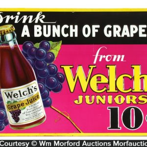 Welch Juniors Grape Juice Sign