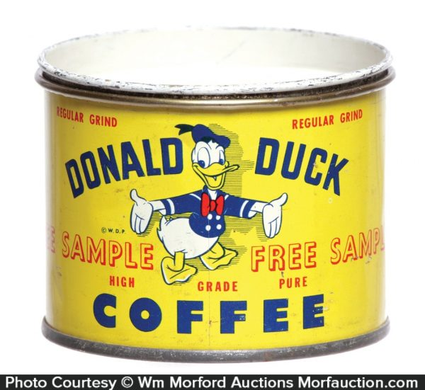 Donald Duck Coffee Can Bank