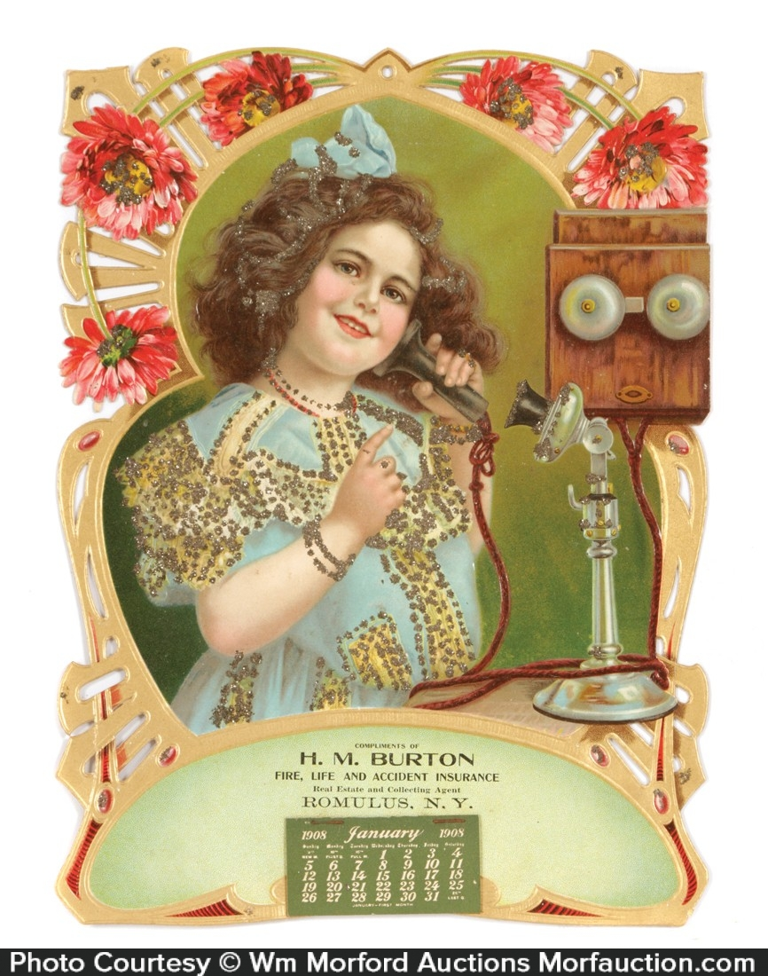 H. M. Burton Vintage Calendar