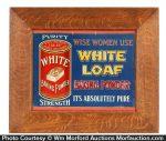 White Loaf Baking Powder Sign