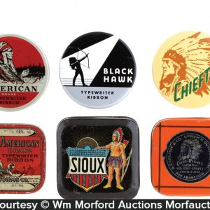 Indian Typewriter Ribbon Tins