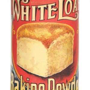 White Loaf Baking Powder Tin
