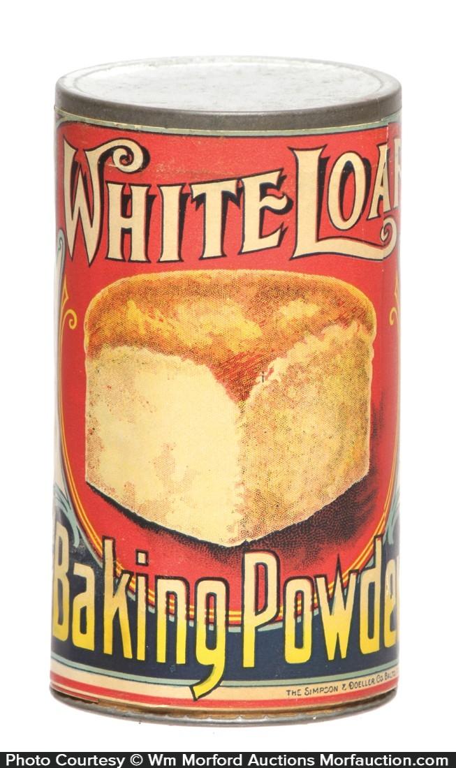 White Loaf Baking Powder Tin