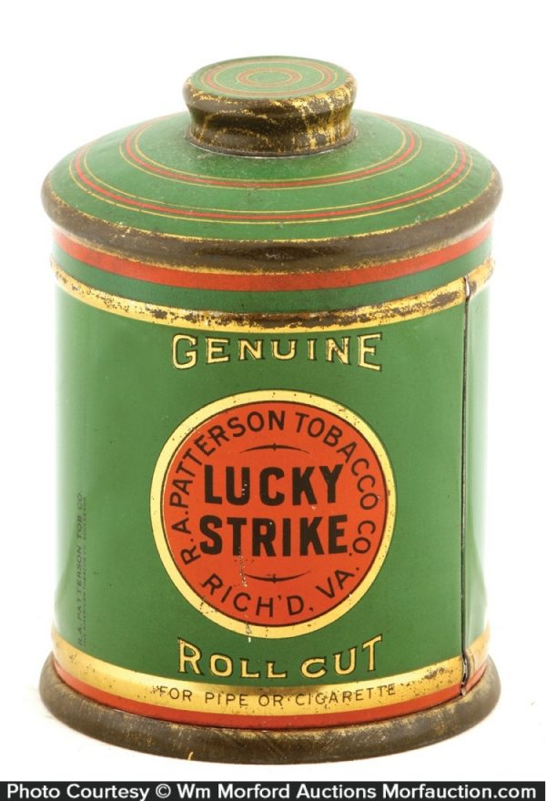 Lucky Strike Tobacco Canister