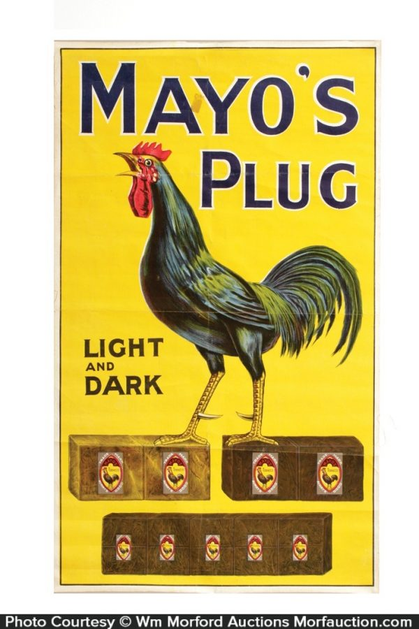 Mayo's Plug Tobacco Sign