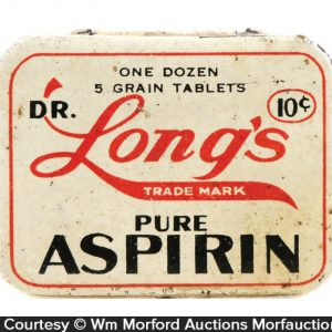 Dr. Long's Aspirin Tin