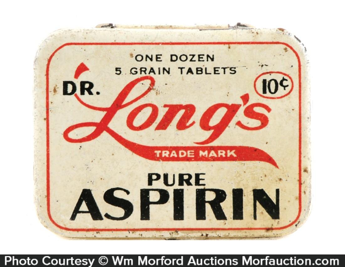 Dr. Long's Aspirin Tin