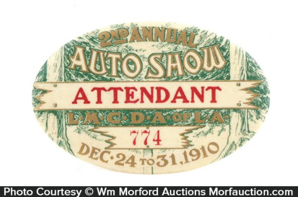 1910 Los Angeles Auto Show Badge
