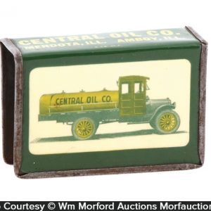 Central Oil Co. Match Box Holder