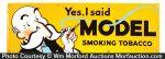 Model Tobacco Porcelain Sign