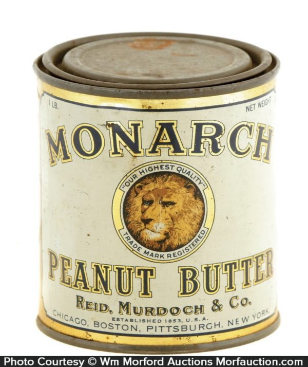 Monarch Peanut Butter Tin