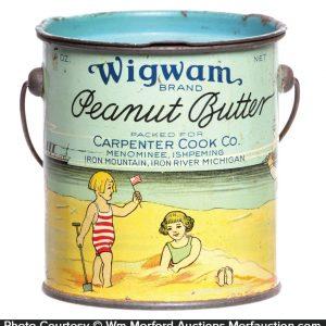 Wigwam Peanut Butter Pail