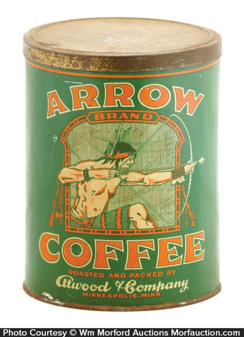 Arrow Coffee Tin
