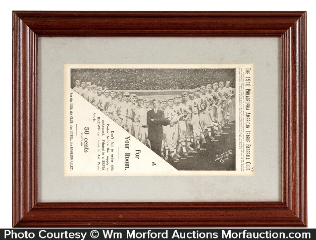 1910 Philadelphia Baseball Poster