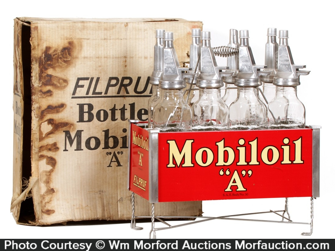 Mobiloil A Oil Bottles Rack