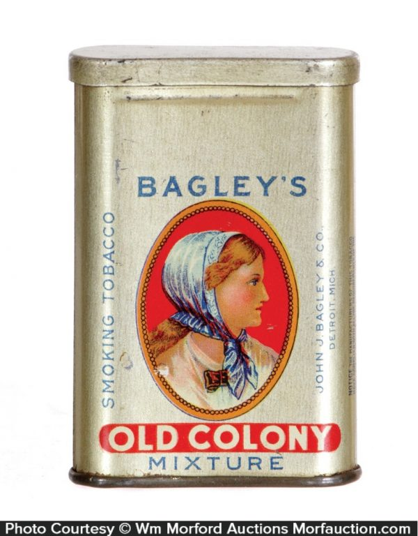 Bagley's Old Colony Sample Tobacco Tin