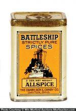 Battleship Spice Tin