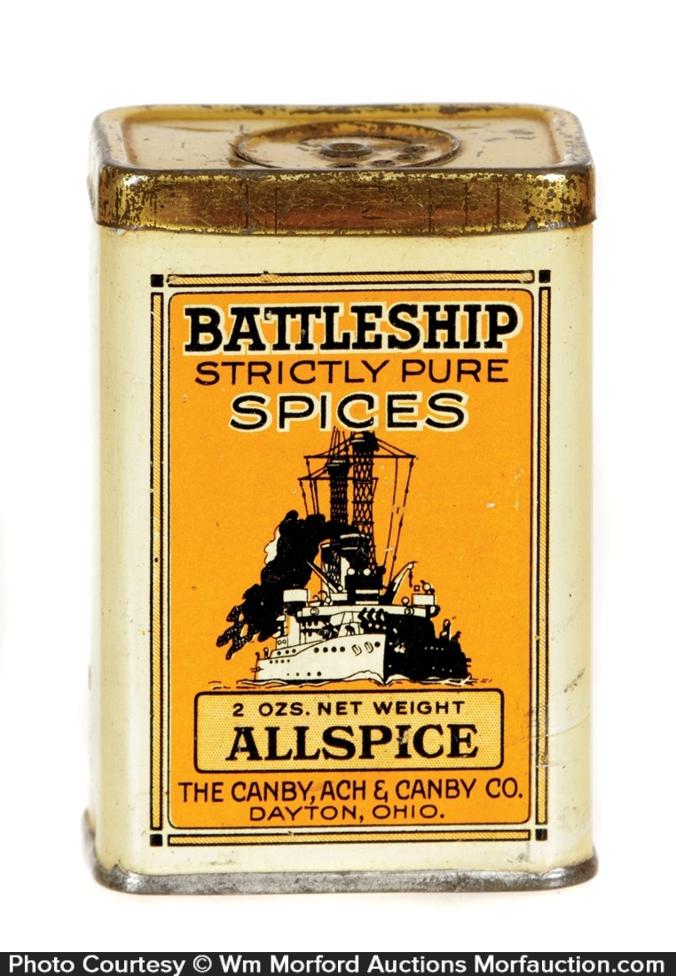 Battleship Spice Tin