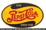 Vintage Wooden Pepsi Sign