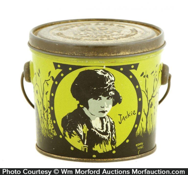 Jackie Coogan Kid Candy Tin