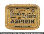 Leon's Tablets Of Aspirin Tin