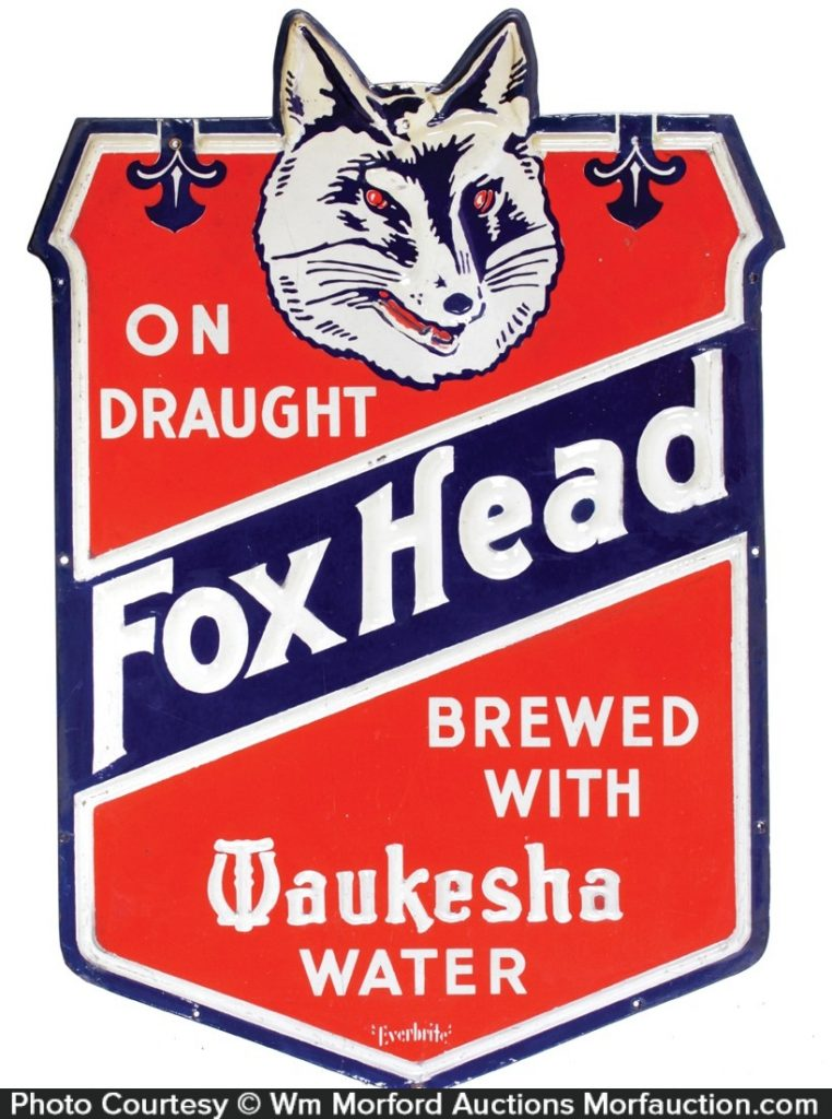 Fox Head Beer Sign