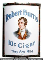Robert Burns Glass Corner Sign