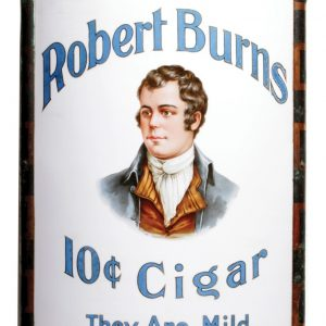 Robert Burns Glass Corner Sign